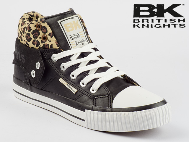 british knights schuhe bk roco b31 3720 06 schwarz braun leopard leo ebay. Black Bedroom Furniture Sets. Home Design Ideas