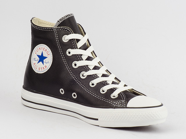 CONVERSE-SCHUHE-CHUCKS-CT-ALL-STAR-HI-CLASSIC-BLACK-132170C-SCHWARZ-LEDER