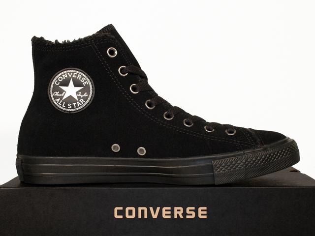 converse schuhe chucks all star hi schwarz gef ttert leder fell 125596c ebay. Black Bedroom Furniture Sets. Home Design Ideas