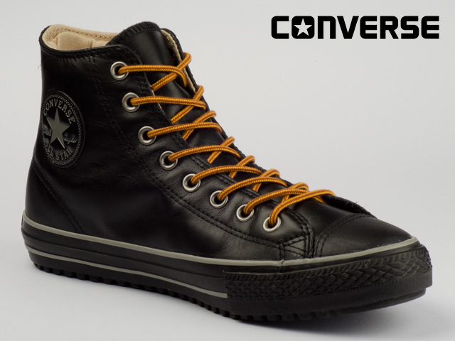 CONVERSE-SCHUHE-CHUCKS-CT-ALL-STAR-WINTER-BOOT-MID-SCHWARZ-133143C-ECHT-LEDER
