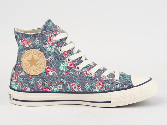converse schuhe chucks ct all star hi 537112c tex floral natural blumen blau. Black Bedroom Furniture Sets. Home Design Ideas