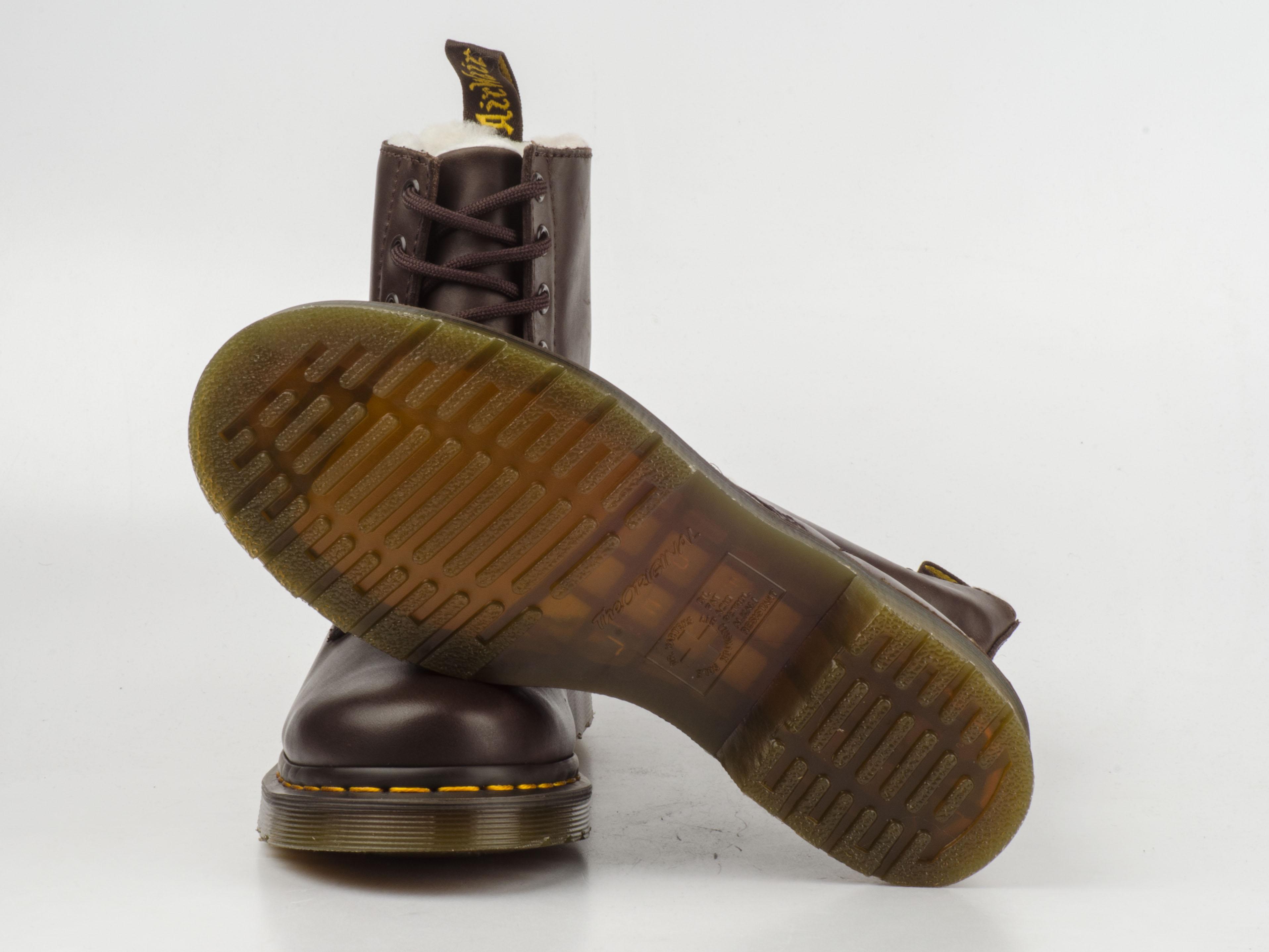 dr doc martens 13239201 serena 8 loch stiefel 8eye boots braun leder gef ttert. Black Bedroom Furniture Sets. Home Design Ideas
